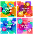 colorful four seasons sale background vector image vector image