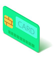 credit card icon isometric 3d style vector image vector image