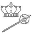 Crown and scepter vector image