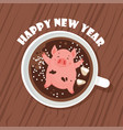 cute and funny happy new year greeting card year vector image vector image