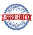 deferred tax stamp vector image vector image