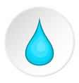 Drop of water icon cartoon style vector image vector image