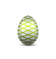 easter egg 3d icon green silver egg isolated vector image vector image