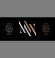elegant alphabet letters font set classic gold vector image vector image