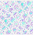 epilepsy seamless pattern with thin line icons vector image vector image