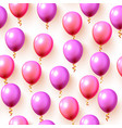 festive color balloon party background texture vector image vector image