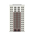 flat apartment residental building vector image vector image