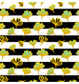 flower striped seamless pattern vector image vector image
