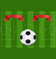 football field and soccer ball vector image