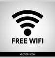 free wifi black gray modern web-based design and vector image vector image