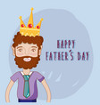 good man celebrating father day vector image vector image