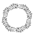 gray scale decorative octagon crown olive branch vector image vector image