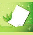 green background with frame vector image