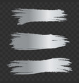 grey silver textured brush strokes set vector image