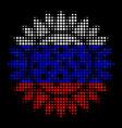 halftone russian sunflower icon vector image