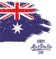 happy australia day poster with australian flag in vector image