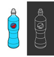 isotonic sport drink bottle blue liquid vector image