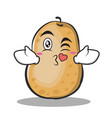 kissing heart potato character cartoon style vector image vector image