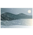 Landscape in cold and dark winter vector image vector image