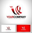 Letter V Logo design vector image