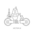 line flat icon construction machinery - vector image vector image