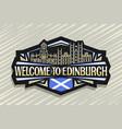 logo for edinburgh vector image vector image