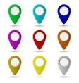 Map pointer icon Location symbol vector image