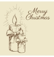 merry christmas sketch design vector image