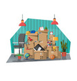 moving to new house family relocated to new home vector image