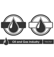 Oil symbols Corporate emblem vector image vector image