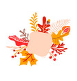 orange autumn leaves bouquets with place for text vector image vector image
