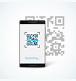 phone with app scan qr code on screen isolated on vector image