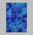polygonal triangle poster template - abstract vector image vector image
