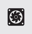 radiator fan flat is a part car icon vector image vector image