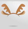 reindeer horns head band vector image