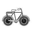 retro bicycle style icon vector image vector image