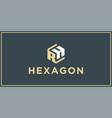 rh hexagon logo design inspiration vector image vector image