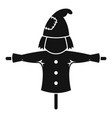 rural scarecrow icon simple style vector image vector image