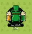 saint patricks day beer card vector image vector image