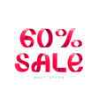 sale 60 percent off vector image vector image