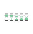 sand clock time icon hour glass sand watch timer vector image vector image