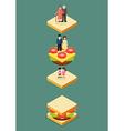 Sandwich Generation vector image vector image