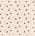seamless pale pink flower pattern vector image vector image