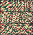 Set of 9 retro seamless patterns