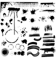 Set of Various Grunge Stains vector image