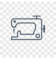 sewing machine concept linear icon isolated on vector image