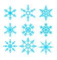 snowflakes symbol set vector image vector image