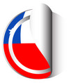 sticker design for flag of chile vector image vector image