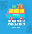 summer vacation journey travel concept driving vector image