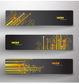 three abstract colorful arrows background banners vector image vector image